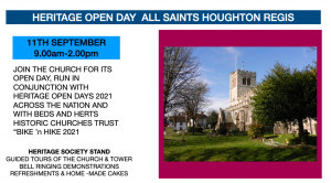 Heritage Open Day 11th September 2021